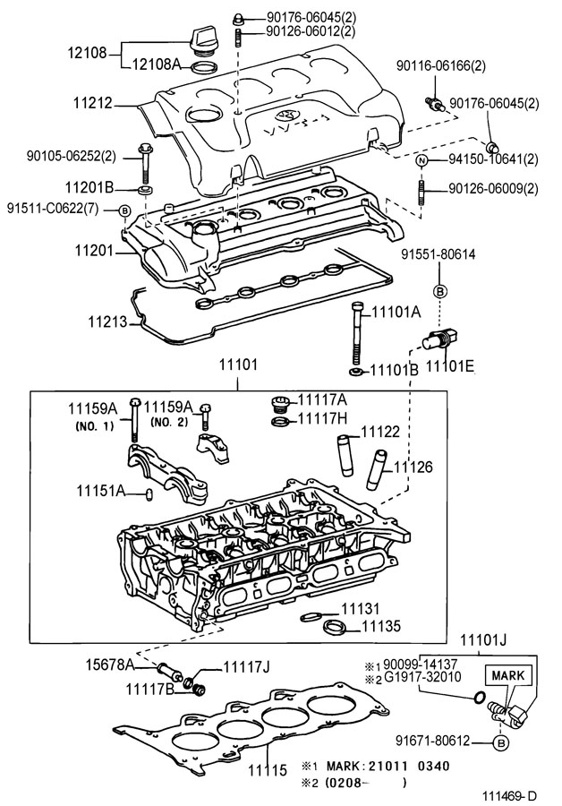 2004 Toyota Echo Sensor  Cam Position  Sensor  Position