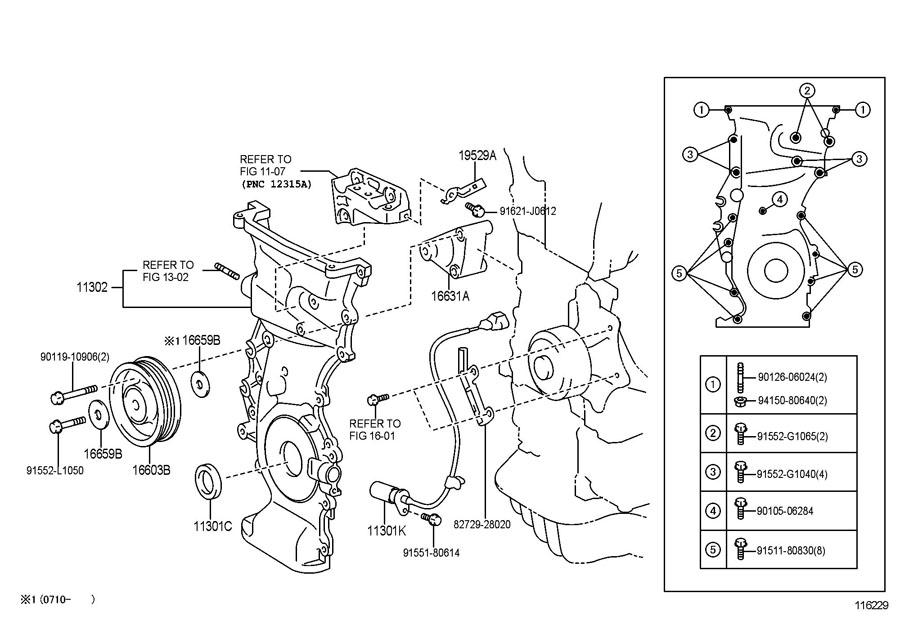 Toyota Rav 4 Sensor  Crank Position  Sensor  Position   L