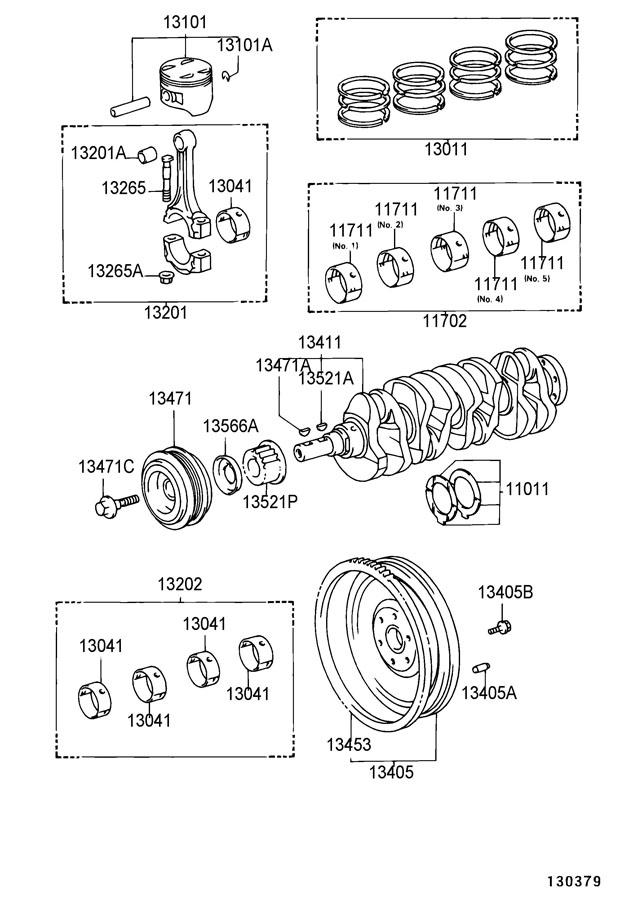 Toyota Mr2 Pulley  Crankshaft  Pulley  Crankshaft  Pulley  Crankshaft