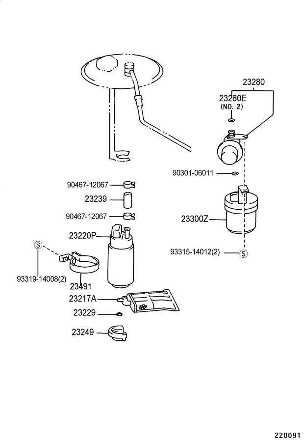 1995 Toyota Tercel Regulator Assembly  Fuel Pressure