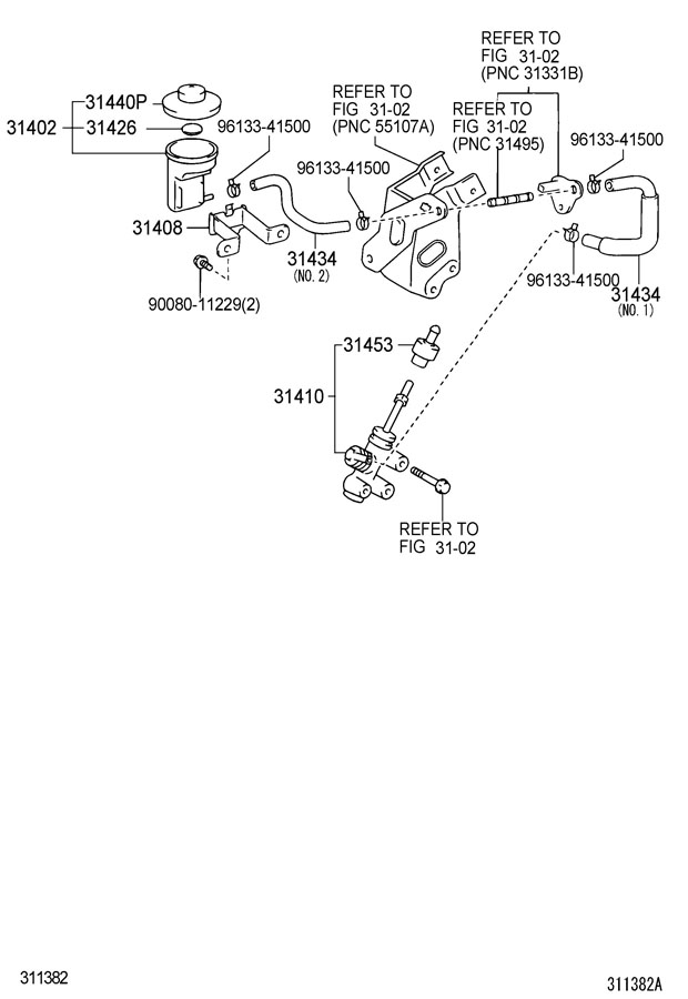 Toyota Tacoma Cylinder Assembly  Clutch Master  Cylinder