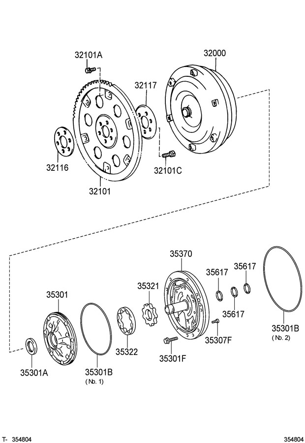 Toyota Tundra Converter Assembly  Torque  Converter  Torque   L   Converter  Torque
