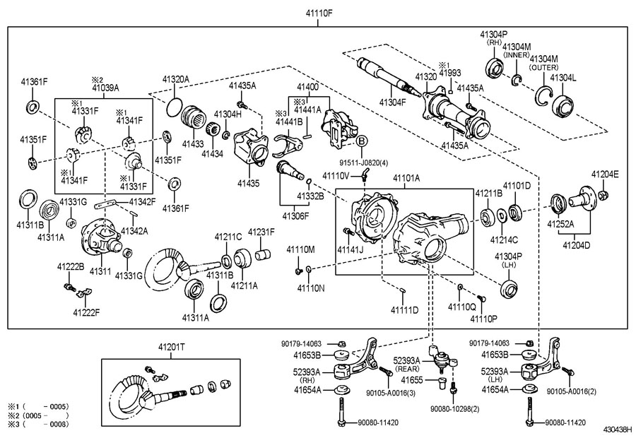 Toyota Tundra Bearing  For Front Differential Case