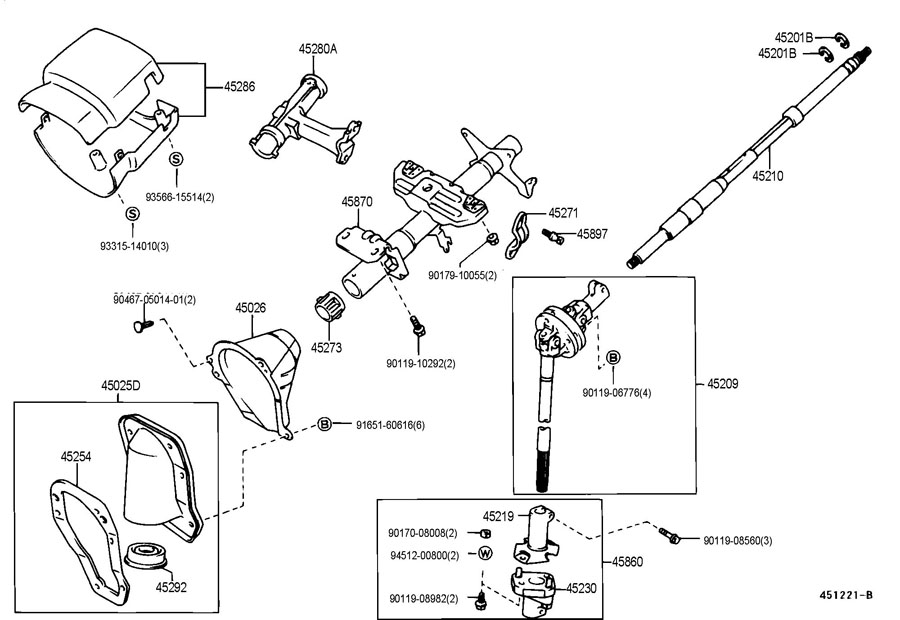 Toyota Tacoma Shaft Assembly  Steering Intermediate  No 2  Shaft  Intermediate  Shaft