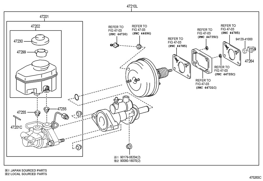 Toyota Tundra Brake Booster Assembly  With Master Cylinder  Cylinder  Master  Cylinder