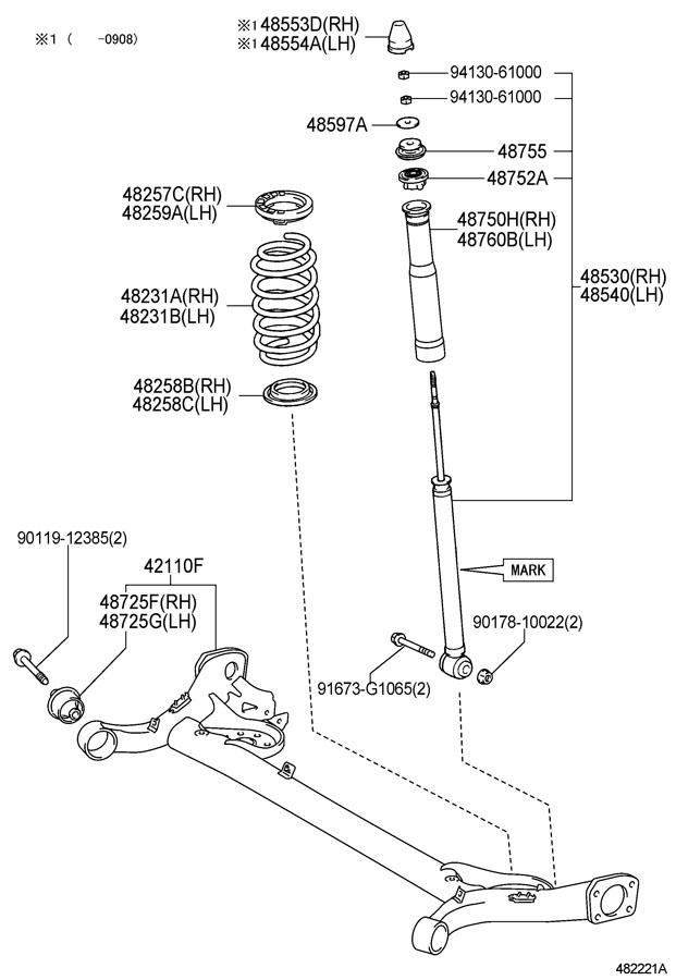 Toyota Yaris Beam Assembly  Rear Axle  Beam  Axle  Beam