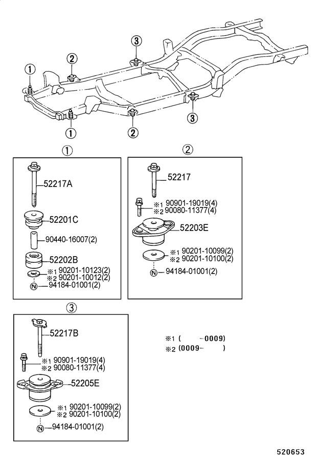 1999 Toyota Tacoma Cushion Sub