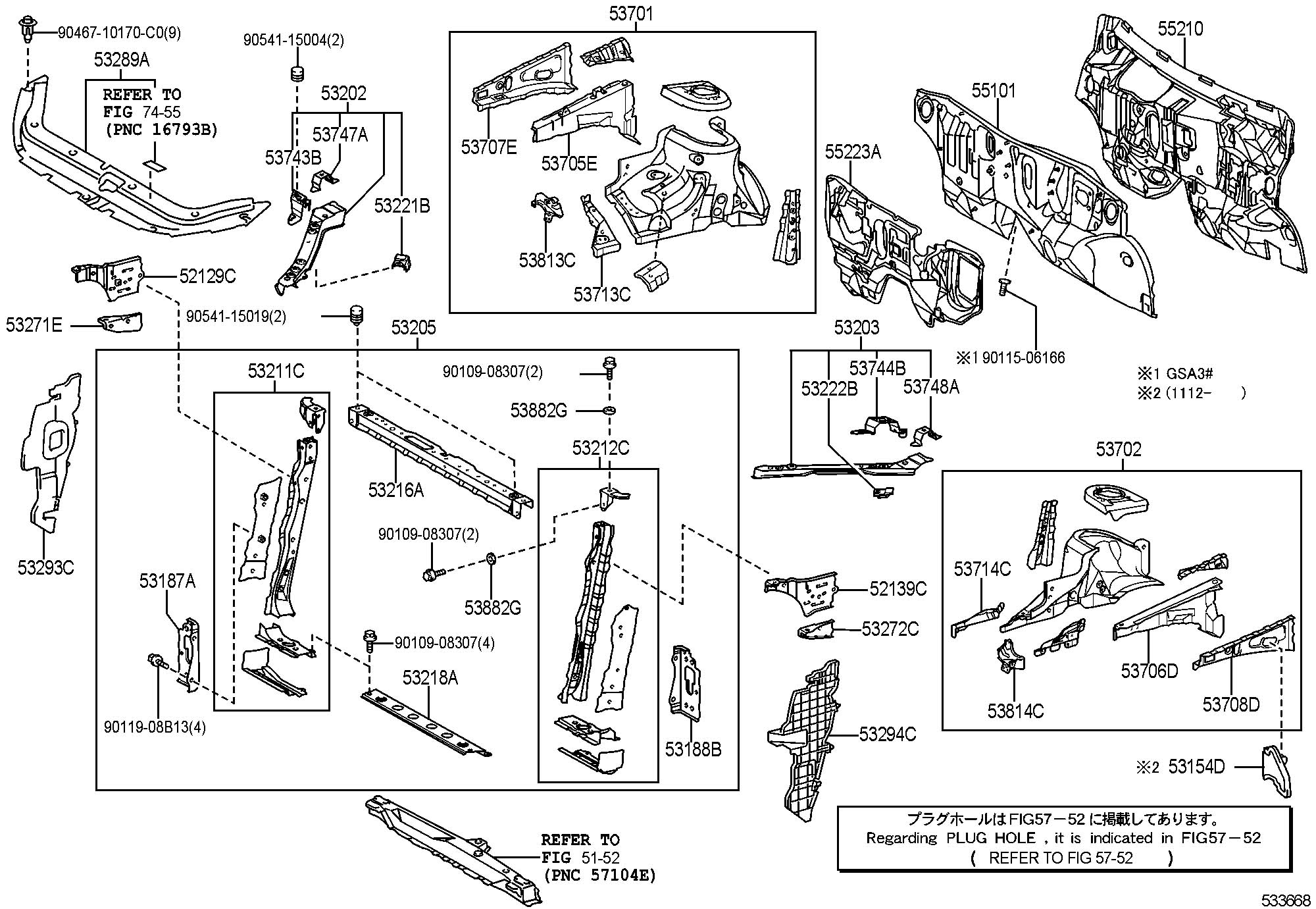2008 toyota tacoma front bumper parts diagram html