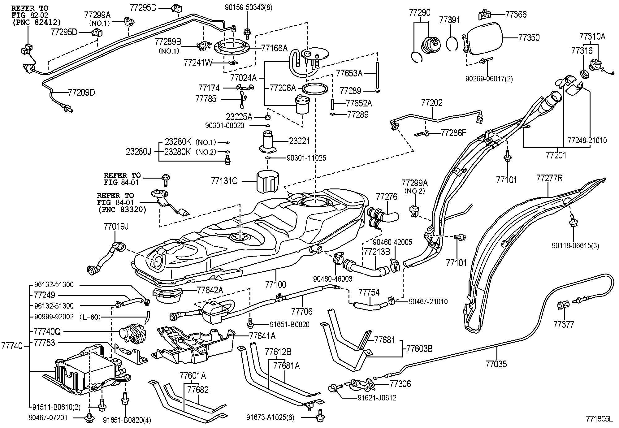 Toyota Rav 4 Cap Assembly  Fuel Tank  Cap  Tank   L   Cap