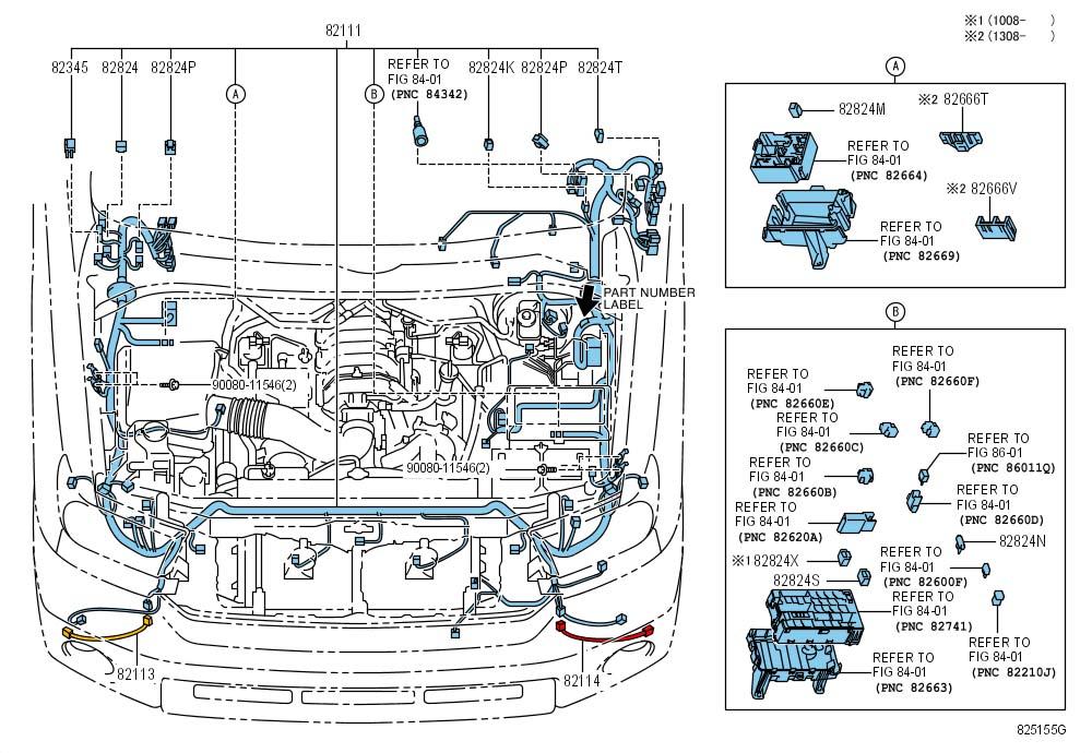 Toyota Tundra Wire  Engine Room Main  Wiring  Wiring