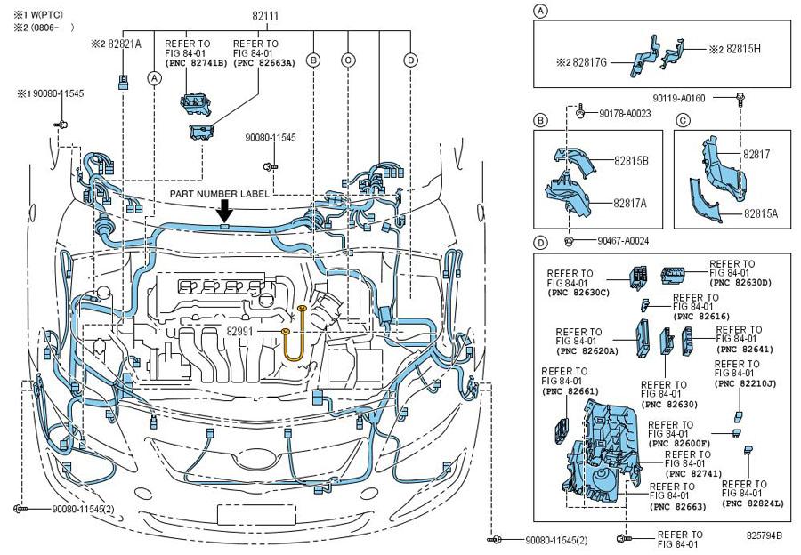 Toyota Corolla Wire  Engine Room Main  Wiring  Wiring