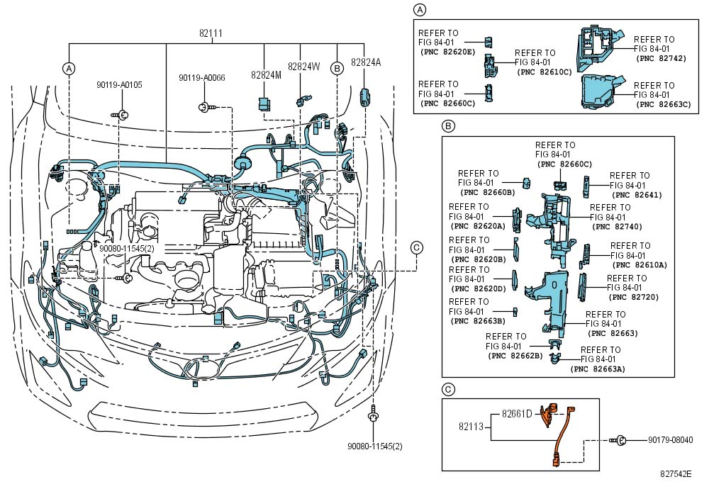 2012 Toyota Camry Se Wire  Engine Room Main  Wiring