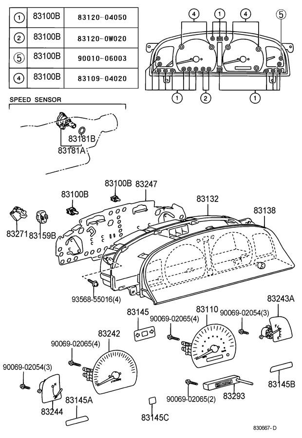 toyota tacoma gauge sub
