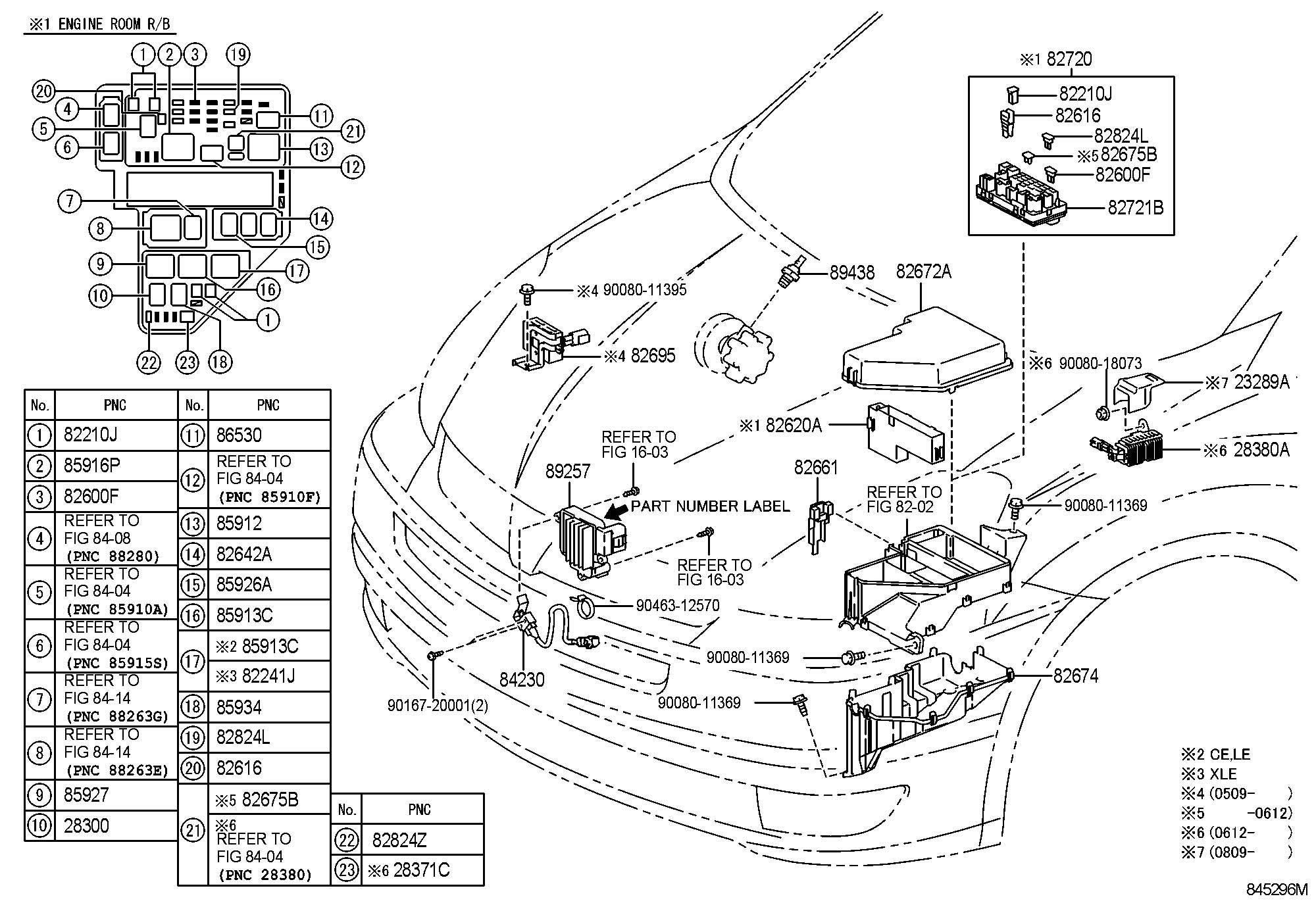 2006 Toyota Sienna Fuse, fuse block; fuse, medium current ...