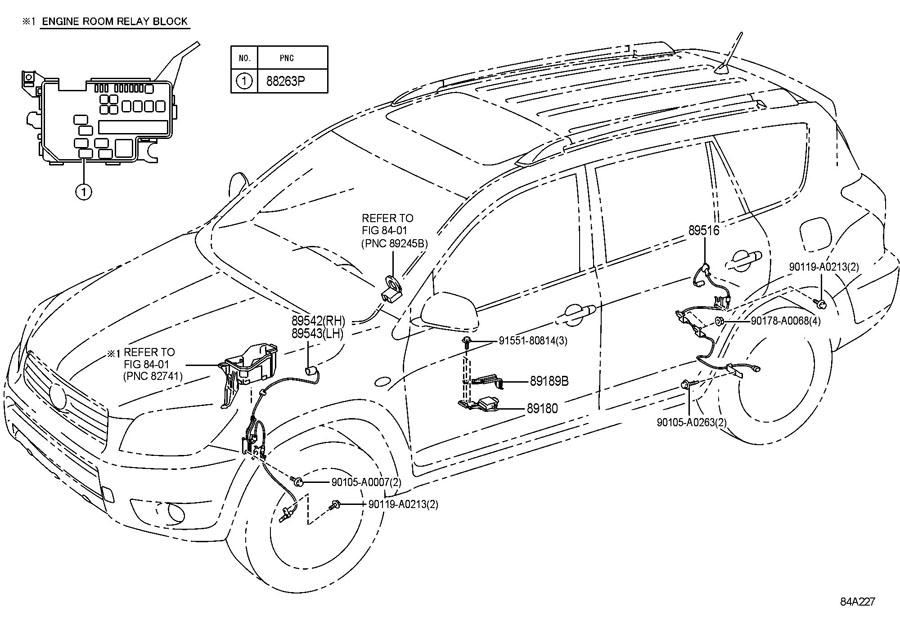 895160R010 - Toyota Wire, skid control sensor; wire, skid ...
