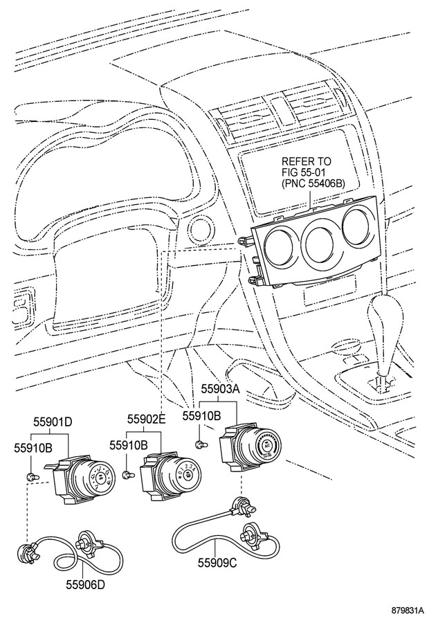 Toyota Corolla Bulb  Air Conditioner Control  Bulb  Heater