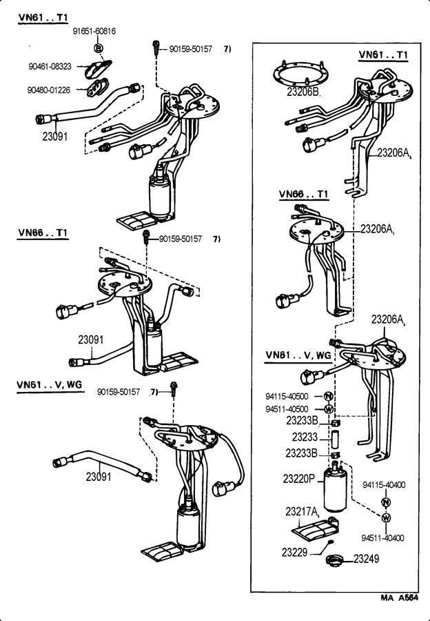 Toyota 4runner Bracket  Fuel Pump  Bracket  Pump  Fuel