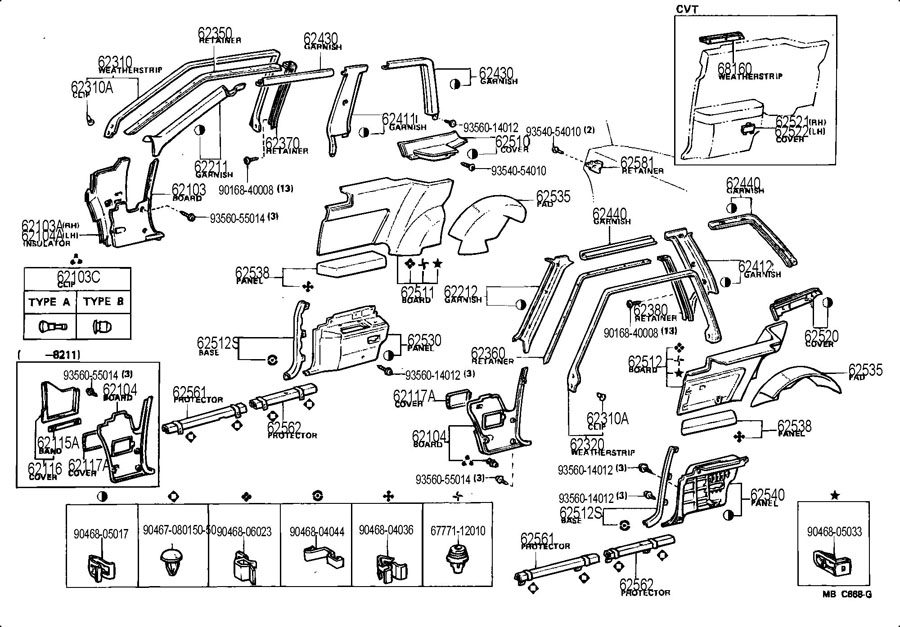 2001 Toyota Corolla Door Handle Parts on Toyota Camry Engine Diagram