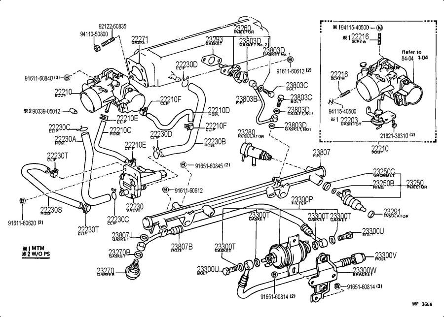 Toyota 4runner Dash Pot Sub